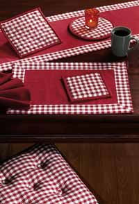 British Red Check Placemats (Set of 2)