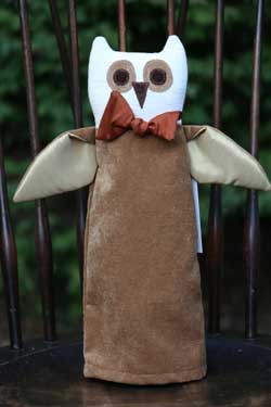Brown Owl Bottle Cover