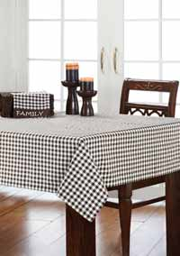 Brownstone Check Tablecloth - 60 x 80