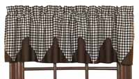 Brownstone Check Layered Valance