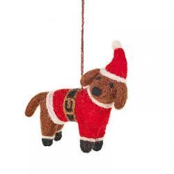 Buddy the Festive Dog Ornament