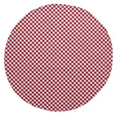 Buffalo Check Red Tablecloth - 70 inch (Round)