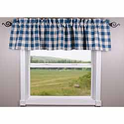 Buffalo Check Blue Valance