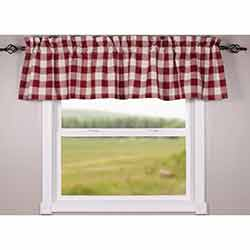 Buffalo Check Red Valance