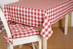 Buffalo Check Red Tablecloth - 60 x 60 inch