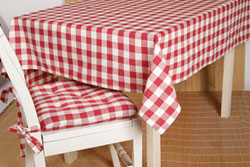 Buffalo Check Red Tablecloth - 40 x 40
