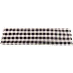 Buffalo Check Black 54 inch Table Runner