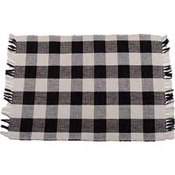 Buffalo Check Black Placemats (Set of 6)