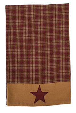 Burgundy Applique Star Tea Towels (Set of 2)