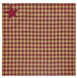 Burgundy Star Napkins (Set of 2)