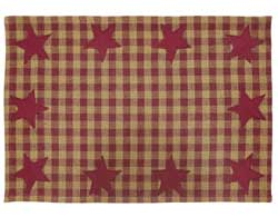Burgundy Star Placemats (Set of 6)