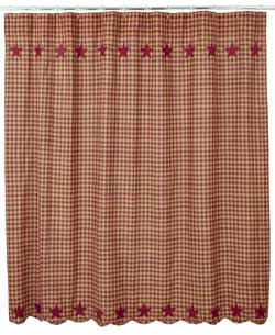 Burgundy Star Shower Curtain