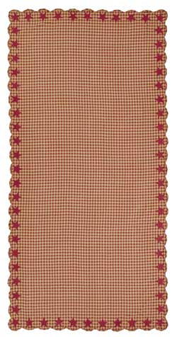 Burgundy Star Tablecloth - 60 x 120 inch
