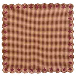 Burgundy Star Tablecloth - 60 x 60 inch
