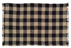 Burlap Black Check Placemats (Set of 6)
