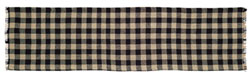 Burlap Black Check Tablerunner, 48 inch