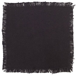 Burlap Black Tablemat - 9 inch