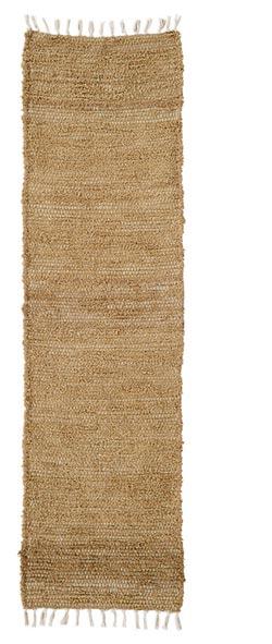 Burlap Natural Chindi Tablerunner, 48 inch