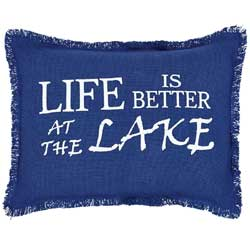Life is Better at the Lake Decorative Pillow