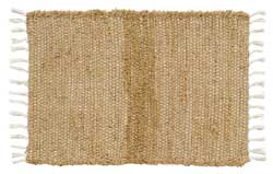 Burlap Natural Chindi Rag Rug, 20 x 30