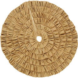 Burlap Natural Ruffled Tree Skirt