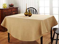 Natural Burlap Round Tablecloth (70 inch)