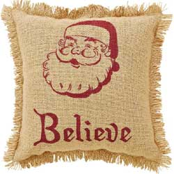 Burlap Santa Pillow