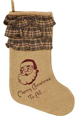 Burlap Santa Stocking