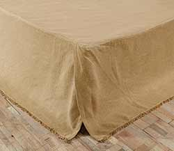 VHC Brands (Victorian Heart) Burlap Natural Bed Skirts (Multiple Size Options)