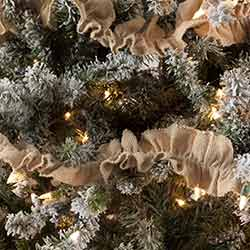 Burlap Vintage 9 foot Garland (Set of 3)