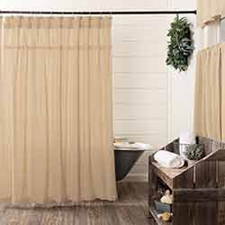 Burlap Vintage Shower Curtain