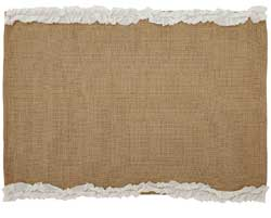 Burlap Natural & Creme Placemats (Set of 6)