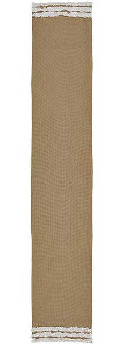 Burlap Table Runner, 72 inch - Creme Ruffled