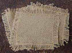 Burlap Natural Coasters (Set of 4)