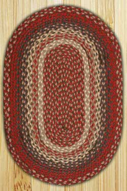 Burgundy Oval Jute Rug (Special Order Sizes)