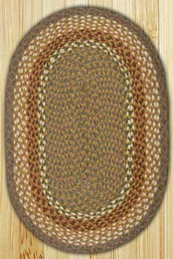Mustard / Ivory Oval Jute Rug (Multiple Size Options)