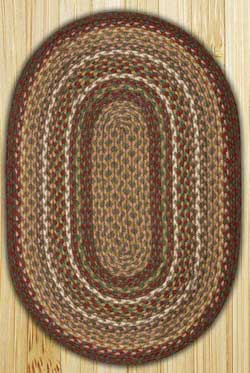 Burgundy/Ivory Oval Jute Rug (Multiple Size Options)