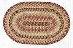 Terracotta Crock 20 x 30 inch Braided Rug - Oval