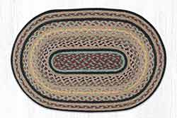 Classic Stucco 20 x 30 inch Braided Rug - Oval