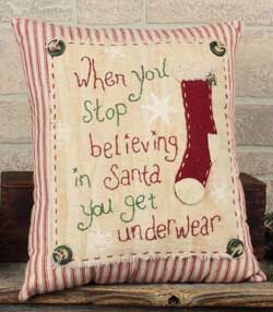 Stop Believing in Santa Pillow
