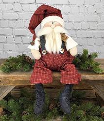 Kringle Sitting Whimsy Santa Claus