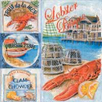 Boston International Lobster Bisque Paper Luncheon Napkin