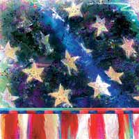 Boston International Patriotic Flag Paper Cocktail Napkin