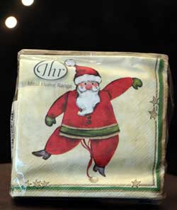 Santa Jumping Jack Paper Cocktail Napkins