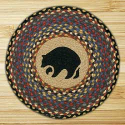 Black Bear Braided Jute Chair Pad