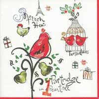 Twelve Days of Christmas Paper Luncheon Napkins