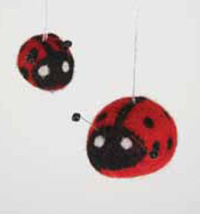 Cody Foster Lady Bug Felt Ornament
