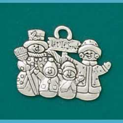Let It Snow Snowman Ornament
