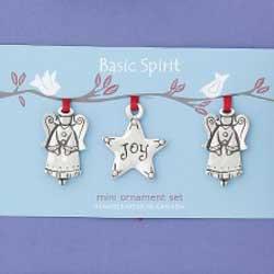 Angel and Star Mini Ornaments (Set of 3)