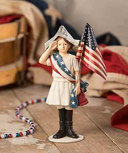 Stars and Stripes Girl Figurine
